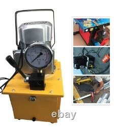 10000PSI Electric Driven Hydraulic Pump Single Acting Manual Valve Oil Capacity