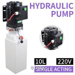 10L Single Acting Hydraulic Pump Dump Trailer 220V Control Kit Power Unit