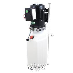10L Single Acting Hydraulic Pump Dump Trailer 220V Power Unit Lift for Car