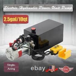 10 Quart Single Acting Hydraulic Pump Dump Trailer Power Unit Dump Truck DC 12V