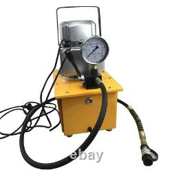 110V 750W 7L Electric Driven Hydraulic Pump 10000 PSI Single Acting Manual Valve