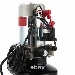 12V Electric Single Acting Hydraulic Pump High Pressure Pump 6 Quart