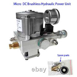 12V Hydraulic Power Unit Pack Single Acting Oil Pump Dump Trailer Excavator Lift