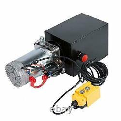 12V Single Acting Hydraulic Pump Dump Trailer 8 Quart Metal Reservoir for Car-US