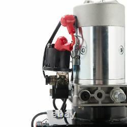 12V Single Acting Hydraulic Pump Dump Trailer Unit 10 Quart Metal Reservoir