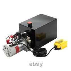 12 Quart Single Acting Hydraulic Pump Dump Trailer Power Unit Dump Truck DC 12V