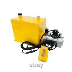 12 Volt Hydraulic Pump for Dump Trailer 12 Quart Steel Single Acting