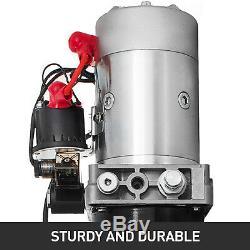 12 Volt Hydraulic Pump for Dump Trailer 15 Quart Steel Single Acting Lifting