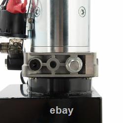 12 Volt Single Acting Hydraulic Pump Dump Trailer 10 Quart Metal Reservoir