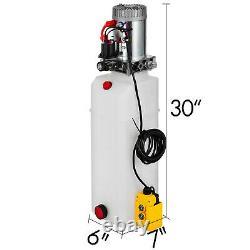 15 Quart Single Acting Hydraulic Pump Dump Trailer Control Kit Remote Power Unit
