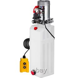 15 Quart Single Acting Hydraulic Pump Dump Trailer Lifting 12V Plastic