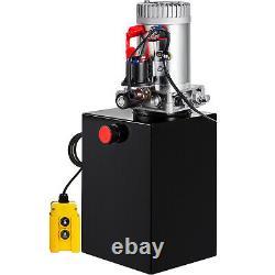 20 Quart Single Acting Hydraulic Pump Dump Trailer 12V Unit Pack Control Kit