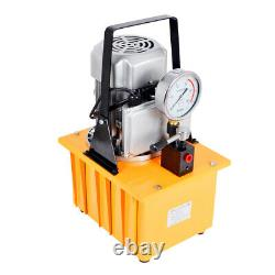 220V 70 MPa Electric Driven Hydraulic Pump with Single Acting Manual Valve