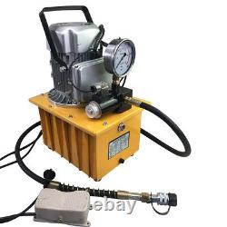 2 Stage Electric Driven Hydraulic Pump Single Acting 110V 10k PSI Solenoid Valve