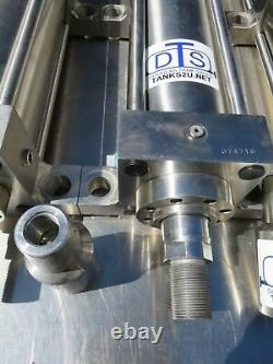 3000 PSI hydraulic cylinder 4 bore 13 stroke all stainless steel