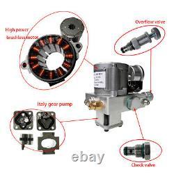 300W Single Acting Hydraulic Oil Pump Dump Trailer Power Unit DC 12V Unit Pack
