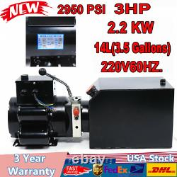 3.5 Gallon 2.2KW Auto Car Lift Hydraulic Power Unit 220V60HZ 3 PH Hydraulic Pump