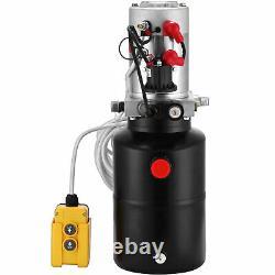 6 Quart 12V Single Acting Hydraulic Pump Dump Trailer Iron Remote Car