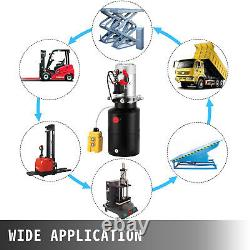 6 Quart 12V Single Acting Hydraulic Pump Dump Trailer Iron Unloading Unit Pack