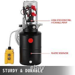 6 Quart 12V Single Acting Hydraulic Pump Dump Trailer Remote Car Control Kit
