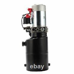 6 Quart Hydraulic Power Unit Pump 12V Single Acting Dump Trailer