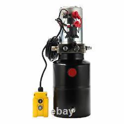 6 Quart Poly 12 Volt Hydraulic Pump for Dump Trailer Single Acting