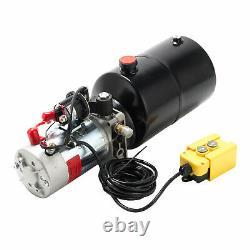 6 Quart Single Acting Hydraulic Pump 12v Dump Trailer Reservoir fsy