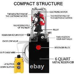 6 Quart Single Acting Hydraulic Pump Dump Trailer Lift Iron Control Kit