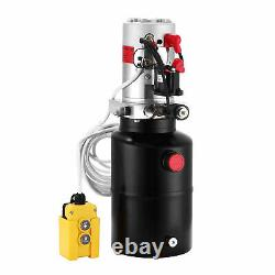 6 Quart Single Acting Hydraulic Pump Dump Trailer Power Unit 12V Unit Pack