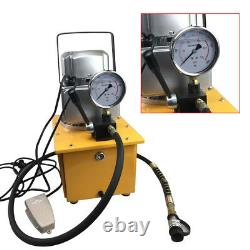7L Electric Driven Hydraulic Pump 10152 PSI (Single Acting Manual Valve) 220V