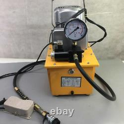 7L Electric Hydraulic Pump Power Pack 2Stage Solenoid Single Acting 10K PSI 110V