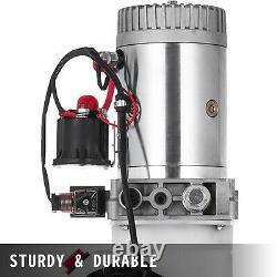8L Single Acting Hydraulic Pump Dump Trailer 24V Control Kit Power Unit
