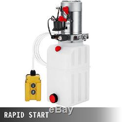 8 Quart Single Acting Hydraulic Pump Dump Trailer Lift Control Kit Crane