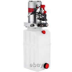 8 Quart Single Acting Hydraulic Pump Trailer Control Kit 12V Plastic Reservoir