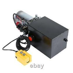 8 quart single acting hydraulic pump dump trailer reservoir unloading 12v