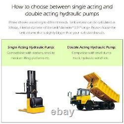 8 quart single acting hydraulic pump/ for unloading reservoir unloading 12 volt
