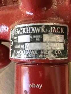 Blackhawk Porto-Power Hydraulic Hand Pump with a cylinder attachment and hose