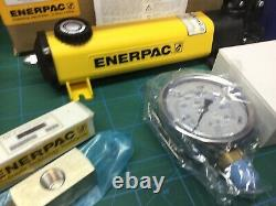 ENERPAC P-142 Hydraulic Hand Pump GA4 HC7206 Hose Gauge NEW