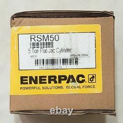 ENERPAC RSM50 5 Ton Flat-Jac Hydraulic Cylinder 1/4 Stroke 10,000 PSI