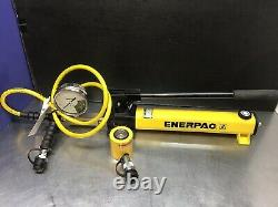ENERPAC SCL101H 10 Ton Hydraulic Set RCS101 P392 Pump Low Height NICE