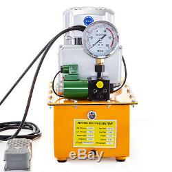 Electric Driven Hydraulic Pump Single Acting Solenoid Valve Pedal Switch 750W