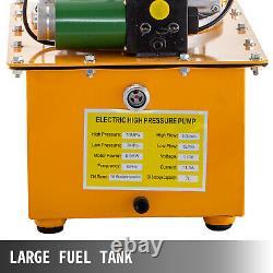 Electric Hydraulic Pump 2 Stage Solenoid Valve Single Acting 10000 PSI 7L Cap