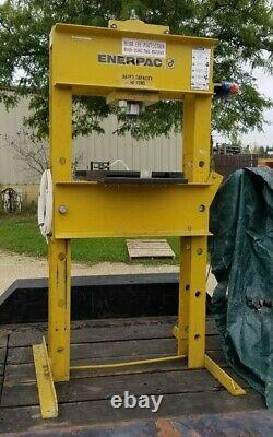 Enerpac 50 Ton Hydraulic H-Frame Shop Press withEnerpac 115V PER-153 Hushh-Pump