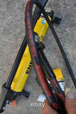 Enerpac P-39 Hydraulic Hand Pump & Rc102 Cylinder With Hose