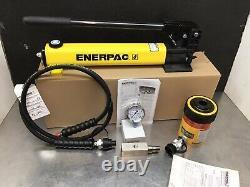 Enerpac SCH202H Set RCH202 Hydraulic Cylinder Hollow 20 ton NICE! P392 Pump