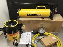 Enerpac SCH603H RCH603 Hydraulic Cylinder Hollow 60 Ton P80 Pump 10 Hose Set
