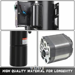 HONYTA Hydraulic 10L Manual Handle Power Unit Pump 110V AC Motor Dump Trailer