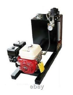Honda 13HP Petrol Engine Hydraulic Power Unit, recoil start, 24 l/min 3000 PSI