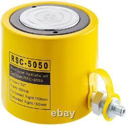 Hydraulic Cylinder Jack 50 tons 50mm 2inch Solid Pressure Pump Stroke Ram