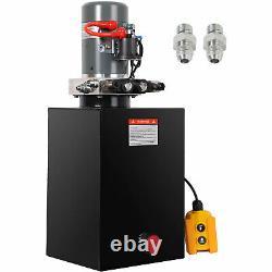 Hydraulic Power Unit 20Q Double Acting Hydraulic Pump 12V DC Motor Dump Trailer